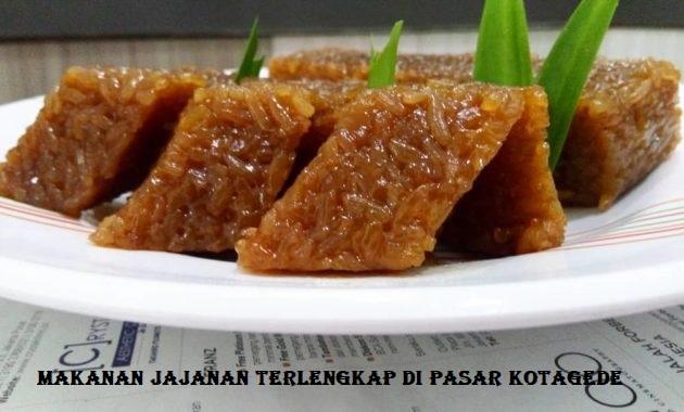 Makanan Jajanan Terlengkap di Pasar Kotagede